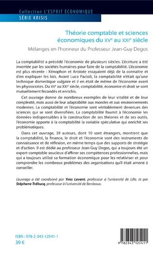 4eme Théorie comptable et sciences économiques du XVe au XXIe siècle