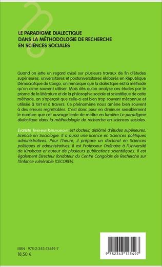 4eme Le paradigme dialectique dans la méthodologie de recherche en sciences sociales