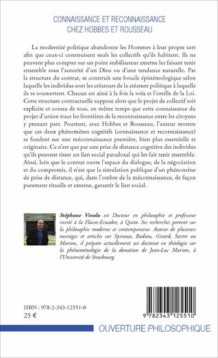 4eme Connaissance et reconnaissance chez Hobbes et Rousseau