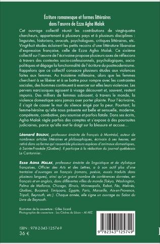 4eme Ecriture romanesque et formes littéraires dans l'oeuvre de Ezza Agha Malak