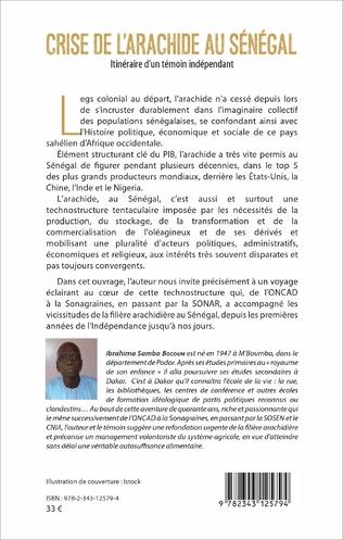4eme Crise de l'arachide au Sénégal