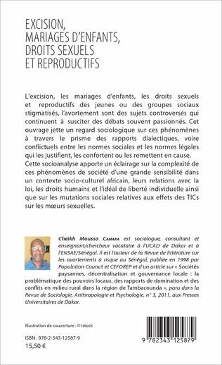 4eme Excision, mariages d'enfants, droits sexuels et reproductifs