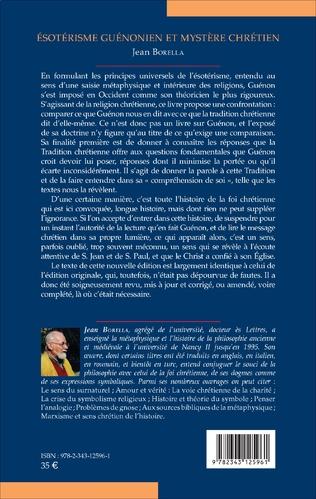 4eme Ésotérisme guénonien et mystère chrétien