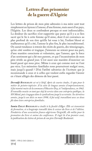 4eme Lettres d'un prisonnier de la guerre d'Algérie