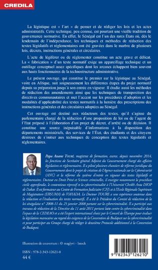 4eme La légistique. Technique de conception et de rédaction des lois et des actes administratifs :