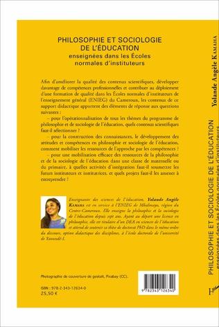 4eme Philosophie et sociologie de l'éducation enseignées dans les écoles normales d'instituteurs