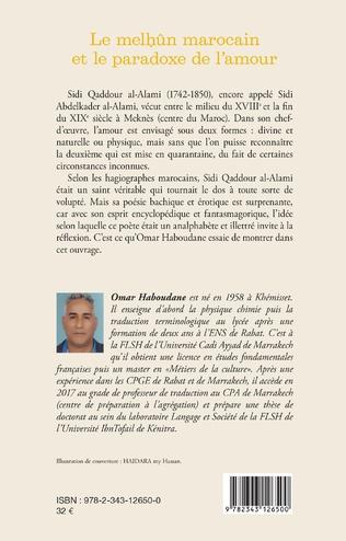 4eme Le melhûn marocain et le paradoxe de l'amour