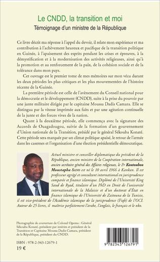 4eme Le CNDD, la transition et moi