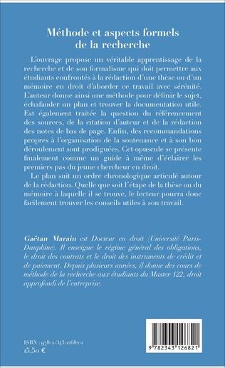 4eme Méthode et aspects formels de la recherche