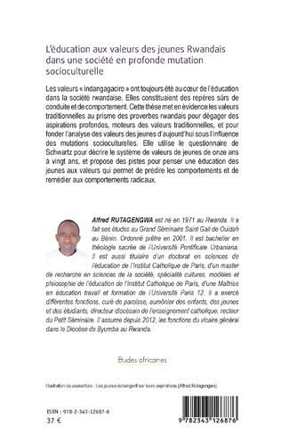 4eme L'éducation aux valeurs des jeunes Rwandais dans une société en profonde mutation socioculturelle