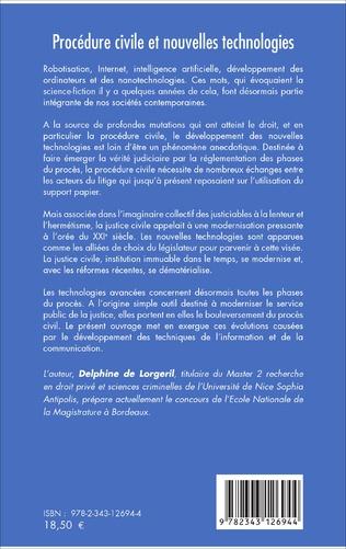4eme Procédure civile et nouvelles technologies