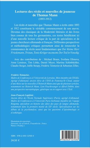 4eme Lectures des récits et nouvelles de jeunesse de Thomas Mann