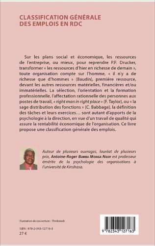 4eme Classification générale des emplois en RDC