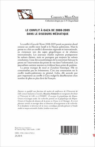 4eme Le conflit à Gaza de 2008-2009 dans le discours médiatique