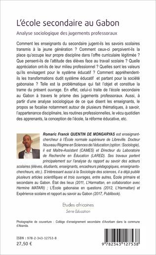 4eme L'école secondaire au Gabon