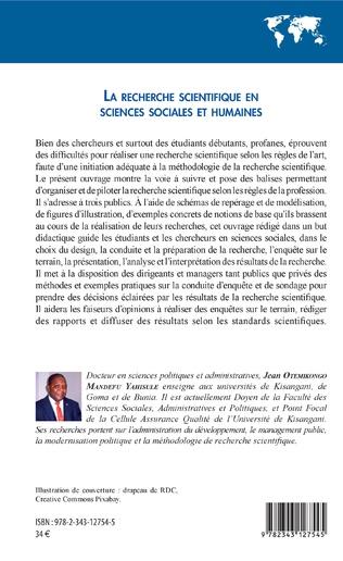 4eme La recherche scientifique en sciences sociales et humaines