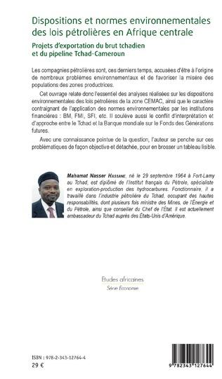 4eme Dispositions et normes environnementales des lois pétrolières en Afrique Centrale
