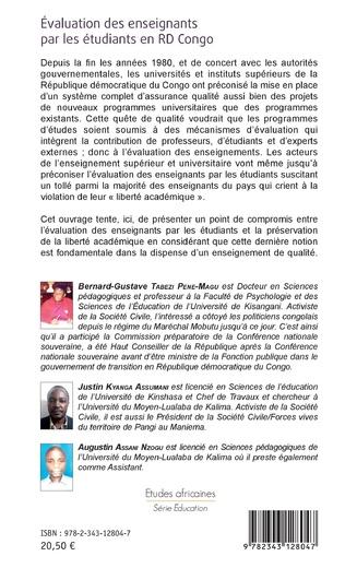 4eme Evaluation des enseignants par les étudiants en RD Congo