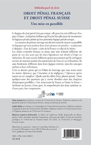 4eme Droit pénal français et droit pénal suisse