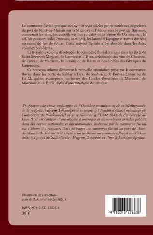 4eme Commerce fluvial et batellerie sur l'Adour du XVIIe siècle au XVIIIe siècle
