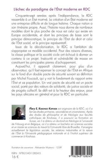 4eme L'échec du paradigme de l'Etat moderne en RDC