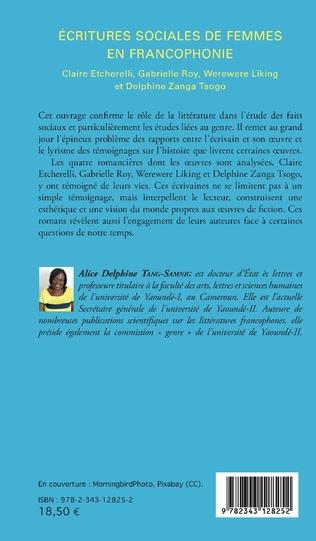 4eme Ecritures sociales de femmes en francophonie