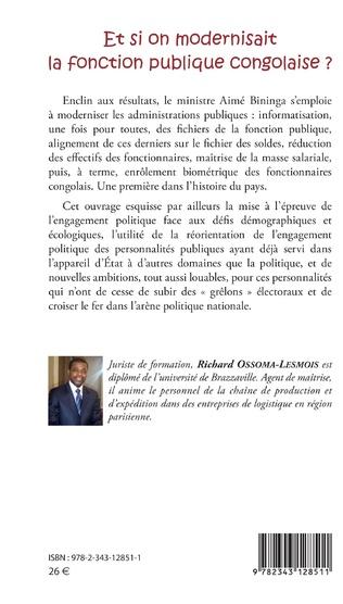 4eme Et si on modernisait la fonction publique congolaise ?