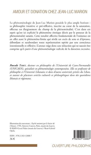4eme Amour et donation chez Jean-Luc Marion