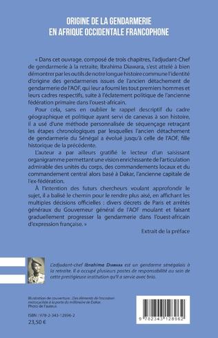 4eme Origine de la gendarmerie en Afrique occidentale francophone