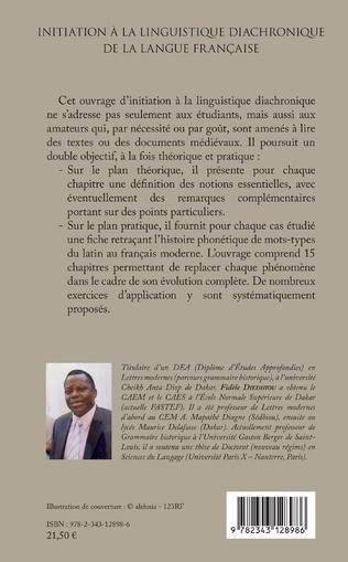 4eme Initiation à la linguistique diachronique de la langue française