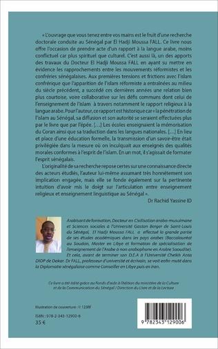 4eme Tariqa, mouvements réformistes et enseignement de l'arabe au Sénégal