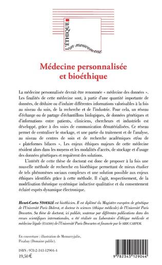 4eme Médecine personnalisée et bioéthique