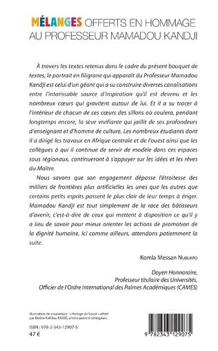 4eme Partage du savoir. Mélanges offerts en hommage au Professeur Mamadou Kandji Tome 1