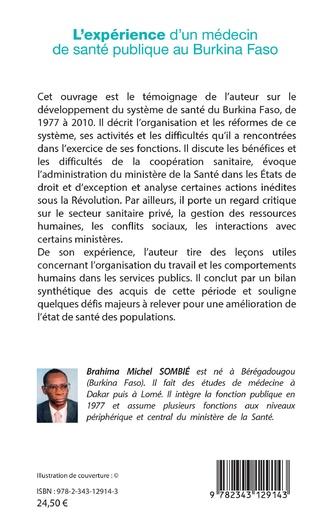4eme L'expérience d'un médecin de santé publique au Burkina Faso