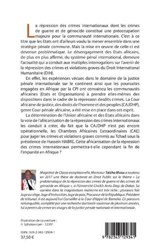 4eme La problématique de la répression des crimes de guerre et des crimes de génocide en Afrique