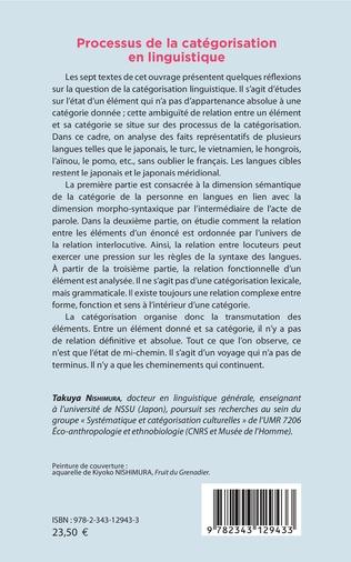 4eme Processus de la catégorisation en linguistique