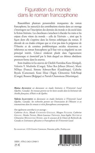 4eme Figuration du monde dans le roman francophone