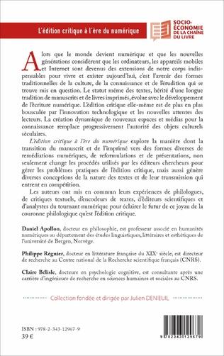 4eme L'édition critique à l'ère numérique