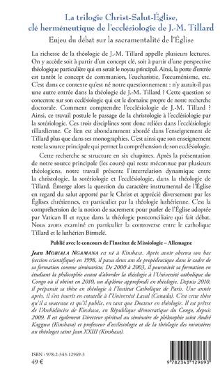 4eme La trilogie Christ-Salut-Eglise, clé herméneutique de l'ecclésiologie de J.-M. Tillard