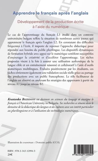 4eme Apprendre le français après l'anglais