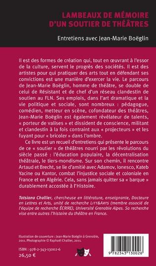 4eme Lambeaux de mémoire d'un soutier de théâtres