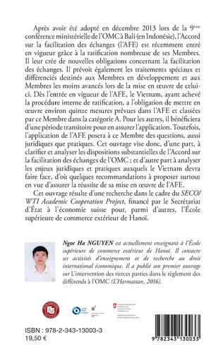 4eme Accord sur la facilitation des échanges de l'OMC pour le Vietnam