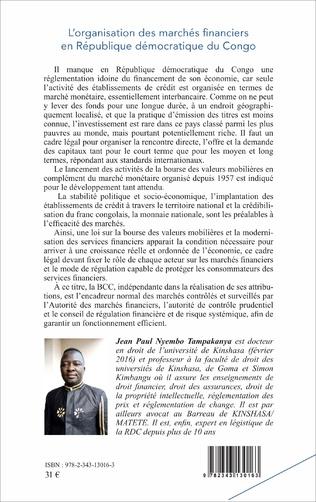 4eme L'organisation des marchés financiers en République démocratique du Congo