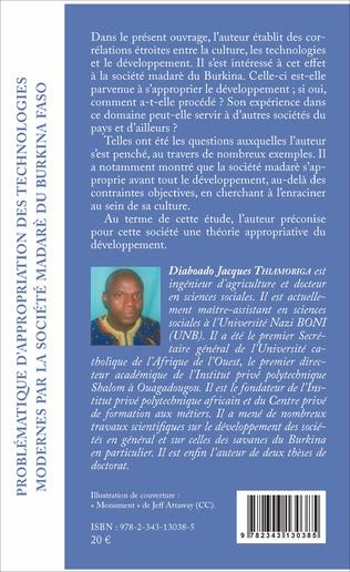 4eme Problématique d'appropriation des technologies modernes par la société madarè du Burkina Faso