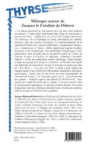 4eme Mélanges autour de Jacques le Fataliste de Diderot