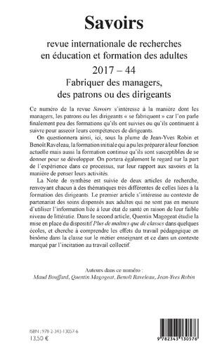 4eme Fabriquer des managers, des patrons ou des dirigeants