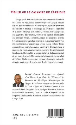 4eme Mbulu ou le calvaire de l'Afrique