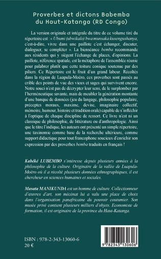 4eme Proverbes et dictons Babemba du Haut-Katanga (RD Congo)