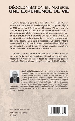 4eme Décolonisation en Algérie, une expérience de vie