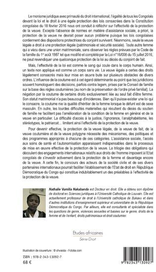 4eme La protection de la veuve en République Démocratique du Congo